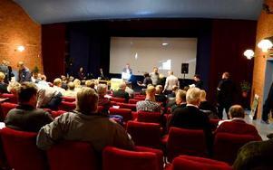 På måndagen arrangerades ett seminarium om gruvindustrin, i Garpenbergs Folkets hus. Foto: Johan Källs/DT