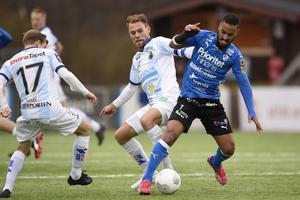 En intensiv vecka väntar för David Fällman, här i senaste matchen hemma mot Halmstad, och Gefle IF. Tre matcher ska spelas och först ut är IFK Norrköping borta i kväll.