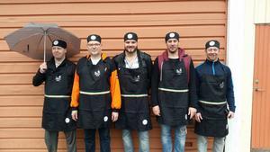 De tävlande: Fredrik Lundberg (gruppen Swing It), Magnus Andersson, segraren Daniel Sköld, Daniel Modén och Mikael Brunk (Swing It).