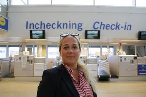 Tezz Tordsdotter Åkerman, vd för Nya Västerås flygplats.