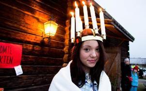 Veronica Engström, 15, blev Sälen-Transtrands lucia i år. Foto: Sofie Lind