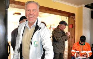 Jimmy Hoppe, som tagit över Stjärnfors golfbana, Kopparberg, var med på städdagen inför säsongen