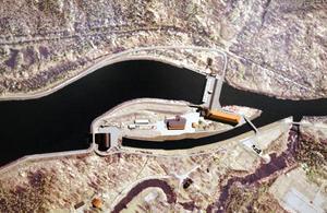 FRAMTIDEN. Sträckningen av den nya kanalen och kraftverket i Untra. Bilden är ett montage.