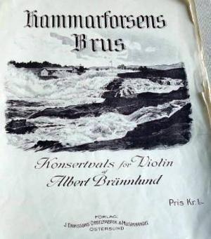 Ragunda hembygdsförening har fått hammarforsens Brus originalnoter.Foto: Ingvar Ericsson