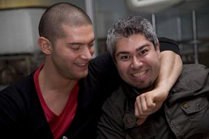 Pluto Christian och Hossein.
