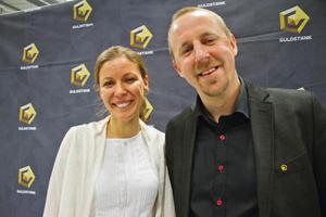 Elin Ekstrand och Nicklas Ekstrand från Millcroft, industridesignföretaget som har nominerats till Årets nystartare.