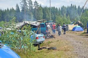 Bärplockarläger vid Untrakilen utanför Mehedeby 2012.
