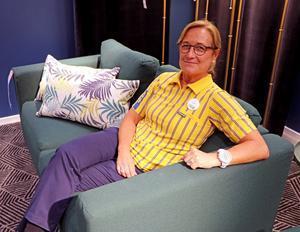 Carina Nordström Sköldh är svag för modulsoffan Vimle.