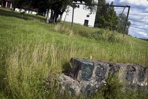 Hoppas på nya mål. Sommarens kulturvärd Ki Jacobsdotter hoppas på nya mål med gräsplanen nedanför Hammarbacken. Foto:Karin Rickardsson