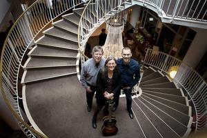 Anders Damberg, Kristina Wester och Andreas Svensson i arrangörsgruppen för Folk at heart.