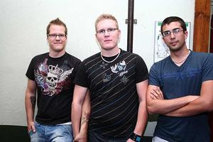 Konrad. Andreas, Jens och Micke