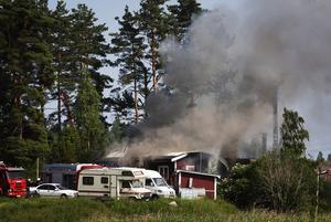 Villabrand. En fullt utvecklad brand på vinden var det som mötte räddningstjänsten.