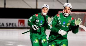 Adam Gilljam och Pontus Blomberg tillsammans i Hammarby.