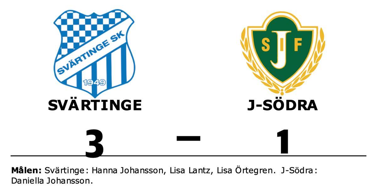 Daniella Johansson enda målskytt när J-Södra föll