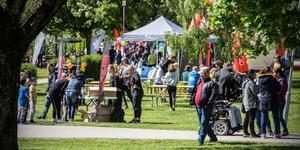 Vilhelminaparken fylldes med folk.