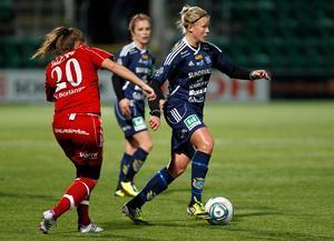 Hanna Glas i SDFF-tröjan år 2012. Foto: Sofie Wiklund
