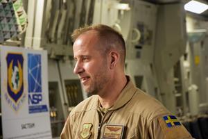 Peder Söderström, vice befälhavare för hela förbandet som är knuten till allt som har med C-17 att göra.