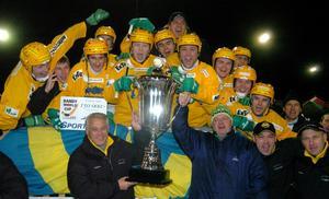 Vodnik jublar efter World cup-titeln 2004. Bild: Stefan Sjödin/Scanpix