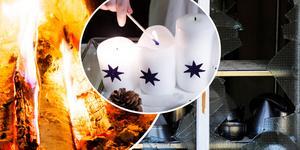 Soteld, glömd spis och  levande ljus är de tre vanligaste brandorsakerna i hemmet i december månad, enligt MSB. Foto: TT