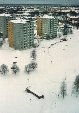 All lokaltrafik ställdes in i Gävle mellan klockan 16 och 18 på lördagen. Då hade fyra bussar kört fast och Swebuss vill inte köra vidare innan vägarna har plogats.