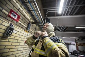 Fredrik Hillbom är deltidsbrandman i Ljusdals kommun och fick rycka ut när brandkatastrofen drog fram.