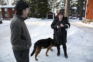 Yngve Brandin och Maria Sjöberg pratar om skjutningen som orsakade en mans död.