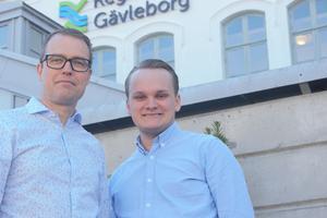 Moderaterna Patrik Stenvard och Alexander Hägg.
