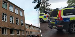 Gårdagen var omtumlande för både elever och personal på Smedbergsskolan i Vansbro. Foto: Sanna Casson, Leif Olsson