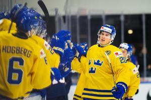 Isac Lundeström blev juniorkronornas hjälte. Foto: Joel Marklund (Bildbyrån).