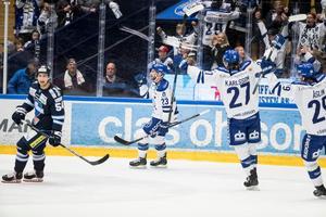 Alex Friesen har gjort mål i båda mötena med BIK Karlskoga under säsongen. Foto: Daniel Eriksson/BILDBYRÅN