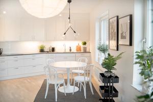 Köket i en av lägenheterna.