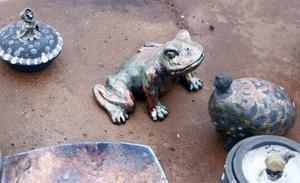 Rakubränd keramik.