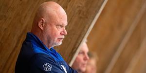Leksandstränaren Roger Melin inför match två i Strömstad. Foto: Michael Erichsen/Bildbyrån.