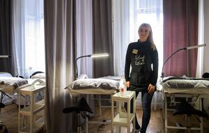 Cecilia Backlund håller i utbildningar och kurser i fransförlängning. Hon har redan flyttat in – och väntar nu på resten av företagen som kommer i slutet av januari.