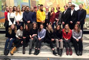 Eleverna från Mora besökte Oslo.