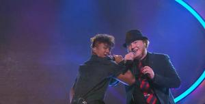 Ki Soe och Maximilian Bergstrand vid den fjärde fredagsfinalen som avgjordes i ett duettmoment.
