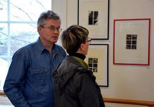 Anders Westin deltog åte ri konstrundan och berättade gärna om sitt skapande.
