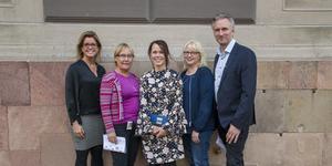 Gävle kommer att ha fem kommunalråd efter årsskiftet: Åsa Wiklund Lång, S, Margaretha Wedin, C, Therese Metz, MP, Helene Åkerlind, L, och Jörgen Edsvik, S.