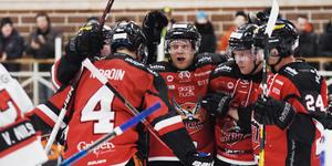 Markus Kinisjärvi  gav HHC ledningen mot Tranås efter bara 21 sekunders spel.