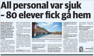 NA 6 april 2019. NA avslöjade att bristerna i Vivallaskolan var så stora att delar av skolan tillfälligt stängdes. Efter artiklarna fick skolan mer personal.