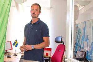Christian Wigren, kanslichef och tillförordnad säkerhetschef i Nynäshamns kommun, är en av nyckelpersonerna i övningen
