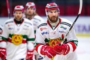 Andrew Rowe gjorde två mål mot Linköping och står nu på tretton totalt den här säsongen för Mora. Foto: Peter Holgersson/Bildyrån