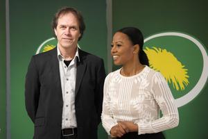 Pär Holmgren och Alice Bah Kuhnke är Miljöpartiets toppnamn i Europaparlementsvalet. Foto: Anders Wiklund