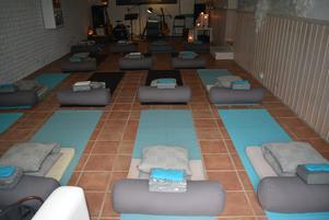 Sitaram yogashala innan deltagarna hade tagit plats.