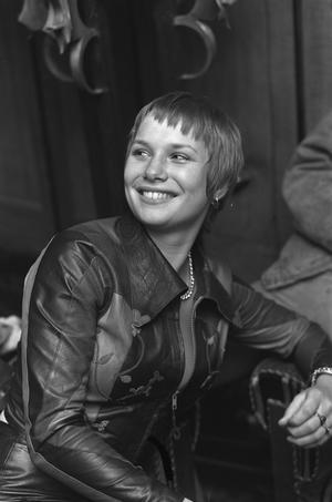 Monique van de Ven vid premiären av Paul Verhoevens