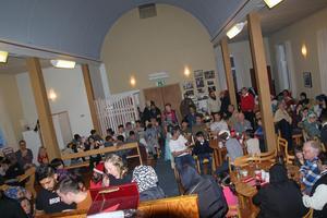 Runt hundra personer firade jul på Missionshuset.
