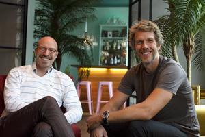 Martin Lundholm och Daniel Bergkvist på Lebowski, som tävlade med sitt bidrag