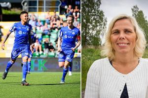 Johanna Örnehag, rektor och vd för MTH-utbildning i Hudiksvall, välkomnar samarbetet med GIF Sundsvall.