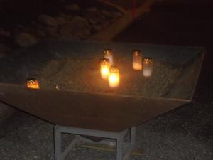 Även utanför domkyrkan hade ljus tänts.