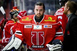 Jhonas Enroth under förra säsongen i Örebro Hockey. Bild: Johan Bernström/Bildbyrån.